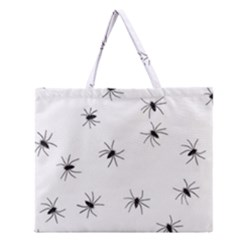 Spiders Zipper Large Tote Bag