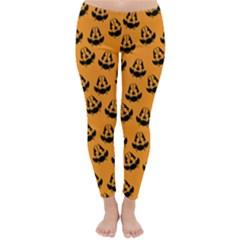 Halloween Jackolantern Pumpkins Icreate Classic Winter Leggings