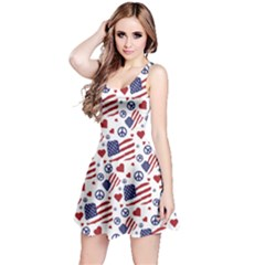 Peace Love America Icreate Reversible Sleeveless Dress