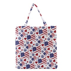 Peace Love America Icreate Grocery Tote Bag