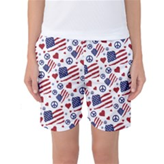 Peace Love America Icreate Women s Basketball Shorts