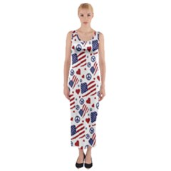 Peace Love America Icreate Fitted Maxi Dress
