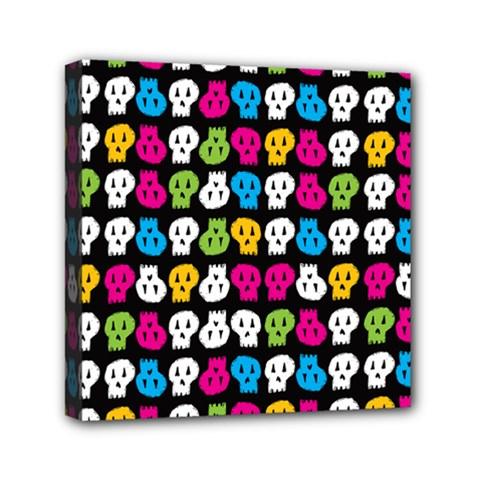Pattern Painted Skulls Icreate Mini Canvas 6  X 6