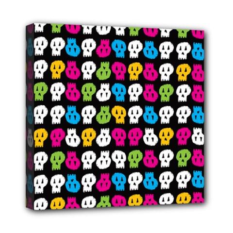 Pattern Painted Skulls Icreate Mini Canvas 8  X 8