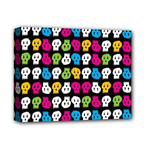 Pattern Painted Skulls Icreate Deluxe Canvas 14  X 11
