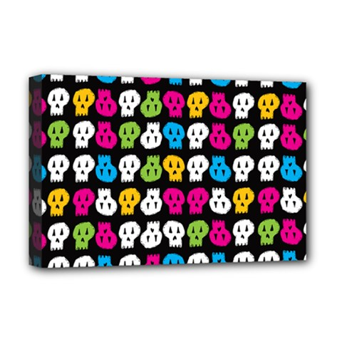 Pattern Painted Skulls Icreate Deluxe Canvas 18  X 12