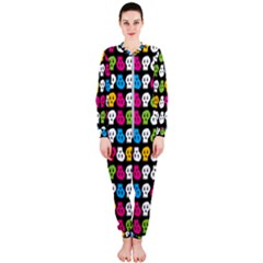Pattern Painted Skulls Icreate Onepiece Jumpsuit (ladies)