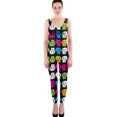 Pattern Painted Skulls Icreate Onepiece Catsuit