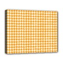 Friendly Houndstooth Pattern, Orange Deluxe Canvas 20  x 16   View1