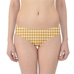 Friendly Houndstooth Pattern, Orange Hipster Bikini Bottoms