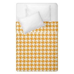 Friendly Houndstooth Pattern, Orange Duvet Cover Double Side (single Size)