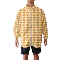 Friendly Houndstooth Pattern, Orange Wind Breaker (kids)
