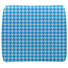 Friendly Houndstooth Pattern,aqua Back Support Cushion