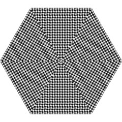 Friendly Houndstooth Pattern,black And White Mini Folding Umbrellas