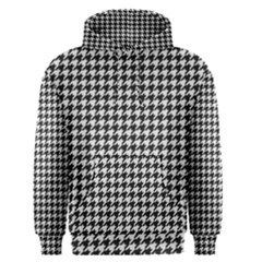 Friendly Houndstooth Pattern,black And White Men s Pullover Hoodie