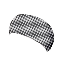 Friendly Houndstooth Pattern,black And White Yoga Headband
