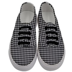 Friendly Houndstooth Pattern,black And White Men s Classic Low Top Sneakers