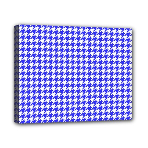 Friendly Houndstooth Pattern,blue Canvas 10  X 8