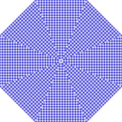 Friendly Houndstooth Pattern,blue Folding Umbrellas