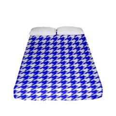 Friendly Houndstooth Pattern,blue Fitted Sheet (full/ Double Size)
