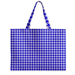Friendly Houndstooth Pattern,blue Zipper Mini Tote Bag