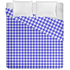 Friendly Houndstooth Pattern,blue Duvet Cover Double Side (california King Size)