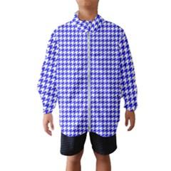 Friendly Houndstooth Pattern,blue Wind Breaker (kids)