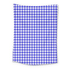 Friendly Houndstooth Pattern,blue Medium Tapestry