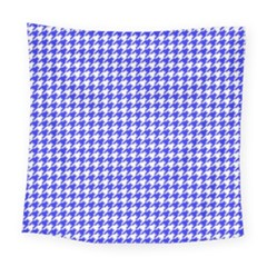 Friendly Houndstooth Pattern,blue Square Tapestry (large)