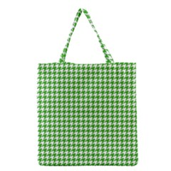 Friendly Houndstooth Pattern,green Grocery Tote Bag