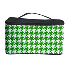 Friendly Houndstooth Pattern,green Cosmetic Storage Case