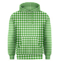 Friendly Houndstooth Pattern,green Men s Pullover Hoodie