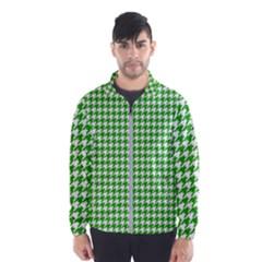 Friendly Houndstooth Pattern,green Wind Breaker (men)