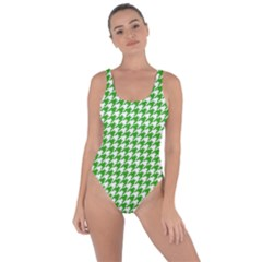 Friendly Houndstooth Pattern,green Bring Sexy Back Swimsuit