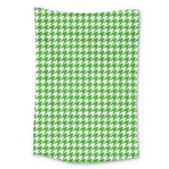 Friendly Houndstooth Pattern,green Large Tapestry