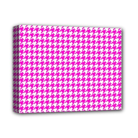 Friendly Houndstooth Pattern,pink Deluxe Canvas 14  X 11