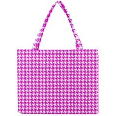 Friendly Houndstooth Pattern,pink Mini Tote Bag