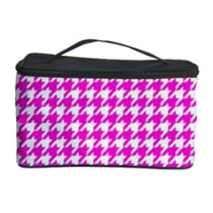Friendly Houndstooth Pattern,pink Cosmetic Storage Case