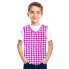 Friendly Houndstooth Pattern,pink Kids  Sportswear