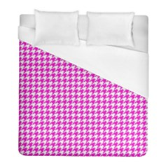 Friendly Houndstooth Pattern,pink Duvet Cover (full/ Double Size)
