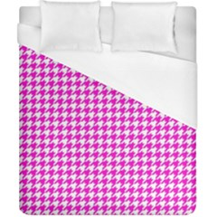Friendly Houndstooth Pattern,pink Duvet Cover (california King Size)
