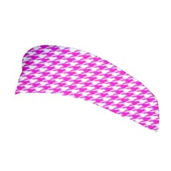 Friendly Houndstooth Pattern,pink Stretchable Headband