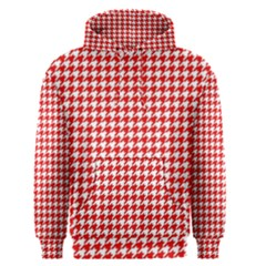 Friendly Houndstooth Pattern,red Men s Pullover Hoodie