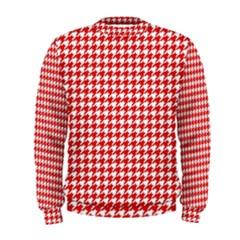 Friendly Houndstooth Pattern,red Men s Sweatshirt
