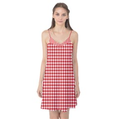Friendly Houndstooth Pattern,red Camis Nightgown