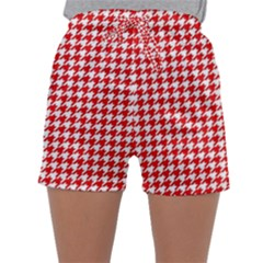 Friendly Houndstooth Pattern,red Sleepwear Shorts