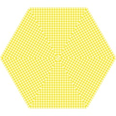 Friendly Houndstooth Pattern,yellow Mini Folding Umbrellas