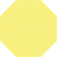 Friendly Houndstooth Pattern,yellow Hook Handle Umbrellas (large)