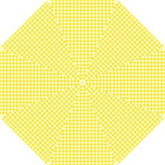 Friendly Houndstooth Pattern,yellow Hook Handle Umbrellas (small)