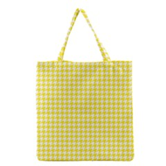 Friendly Houndstooth Pattern,yellow Grocery Tote Bag